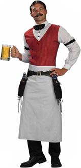 Men's Bartender Adult Costume - Brown - One Size Fits Most Adults