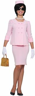 Women's Fashionable First Lady Adult Costume - Pink