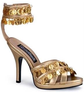 Women's Gold Gypsy Shoes Adult
