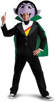 Men's Sesame Street - The Count Adult Costume - Black