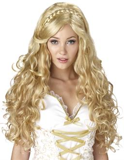 Women's Mythic Goddess Adult Wig - Yellow - One-Size