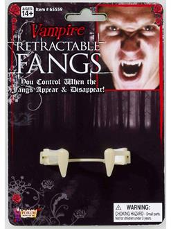 Women's Retractable Vampire Fangs Adult - White - One-Size