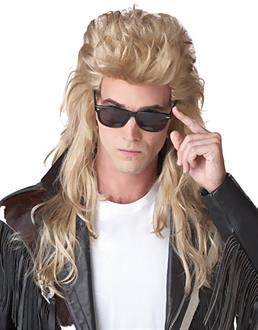 Women's 80's Rock Mullet (Blonde) Adult Wig - Blonde