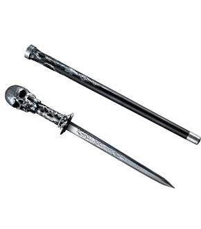 Women's Skull Cane Sword - Black - One-Size