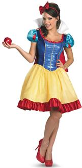 Women's Deluxe Sassy Snow White Adult Costume for Halloween