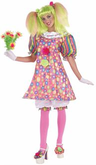 Women's Tickles The Clown Adult Costume - Multi-colored for Halloween