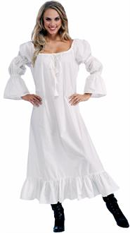Women's Medieval Chemise Adult Dress - White - One-Size