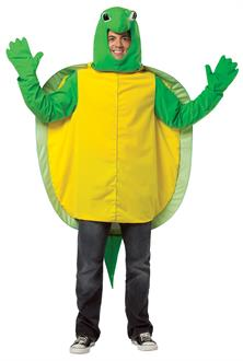 Men's Turtle Adult Costume - Green/Yellow - One-Size (Standard)