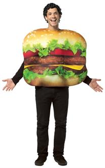 Men's Cheeseburger Adult Costume - Multi-colored for Halloween