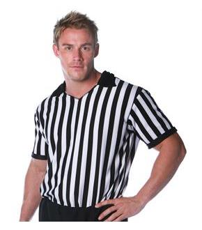Men's Referee Shirt Adult Costume for Halloween