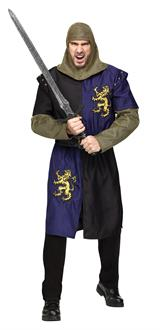 Men's Renaissance Knight Adult Costume - Silver - One Size