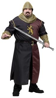 Men's Valiant Knight Adult Plus Costume - Black - One Size