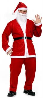 Men's Pub Crawl Santa Suit Adult Costume - Red - One Size