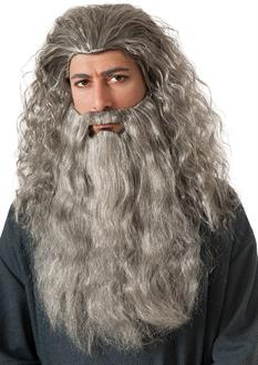 Women's The Hobbit Gandalf Beard Kit - Light Grey