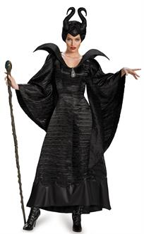 Women's Maleficent Deluxe Christening Black Gown Adult Costume