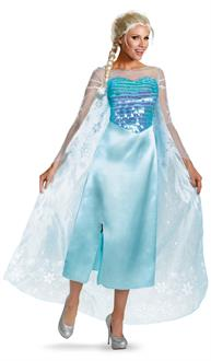 Women's Disney Frozen Elsa Deluxe Adult Costume for Halloween