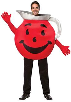Men's Kool Aid Adult Costume - Red - One-Size for Halloween