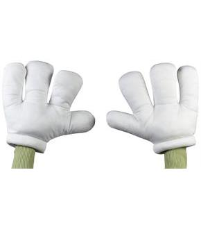 Women's Large Cartoon Hands - White - One-Size