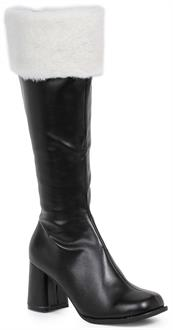 Women's Black Gogo Boots with Faux Fur