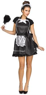 Women's French Maid Apron & Headband - One-Size