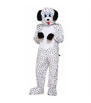 Men's Adult Dotty The Dalmation Mascot Costume - One-Size
