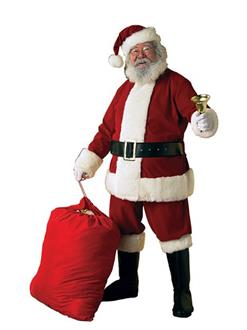 Men's Deluxe Velvet Santa Suit Adult Costume - XX-Large
