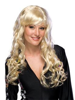 Women's Midnight Black Deluxe Adult Charm Wig - One-Size