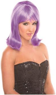 Women's Solid Color Doll Wig - Lavender - O/S