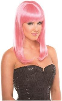Women's Solid Color Hollywood Wig - Pink - O/S