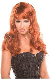 Women's Solid Color Burlesque Wig - Auburn - O/S