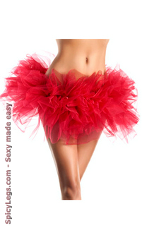 Women's Organza Tutu - Red - O/S
