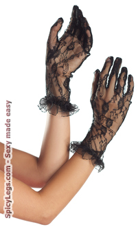 Women's Mid Arm Length Lace Gloves