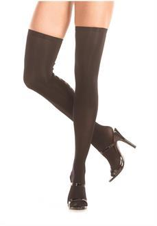 Knee high stockings with hook and eye backseam