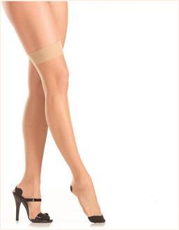 Women's Nude seamed thigh highs - NUDE - O/S