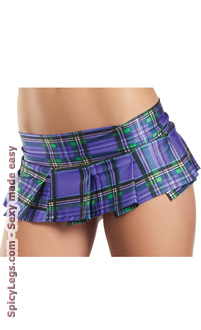 Women's Pleated Plaid School Girl Skirt for Halloween