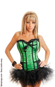 Women's Strapless Cigar Girl Corset and Pettiskirt