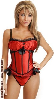 Women's Peasant Princess Burlesque Corset for New Year