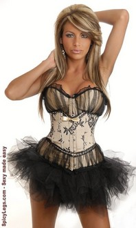 Women's Peasant Burlesque Corset and Pettiskirt for New Year