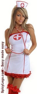 Women's 3 PC Sexy Nurse Costume - One Size