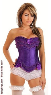 Women's Burlesque Purple Corset