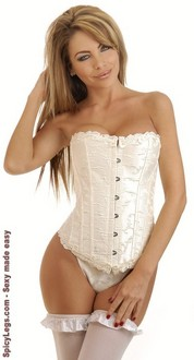Women's Ivory Bridal Embroidered Corset