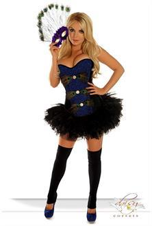 Women's 3 PC Sexy Pretty Peacock Costume for Halloween