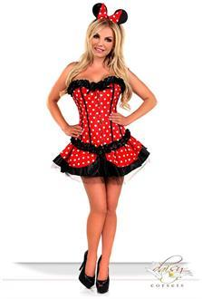 Women's 3 PC Sexy Miss Mouse Costume