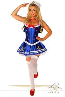 Women's 4 PC Sexy First Mate Sailor Costume