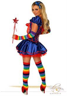 Women's 6 PC Sexy Rainbow Girl Costume