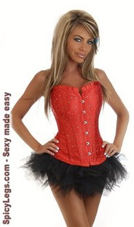 Women's Strapless Sparkle Corset and Pettiskirt