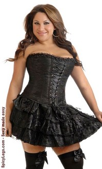 plus size black lace corset dress  spicylegs