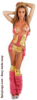 Women's 4 PC Metallic Clubwear Set - One Size