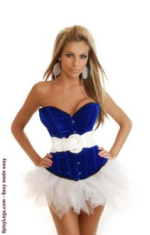 Women's Velvet Corset and Pettiskirt
