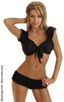 Women's Black Peasant Top - One Size